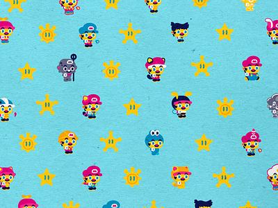 Super Stars tanooki mariomario mariosuperstars superstars powerups nintendoswitch nintendo mariobros vector icons design modern illustration cmyk inkbyteatwork mario animation branding logo