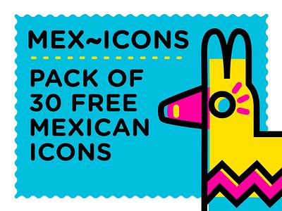 Mex~icons free icon set icon pack icon iconography icon set icon design logo loteria mexican branding vector design modern illustration cmyk mexicons free icons inkbyteatwork icons freeicons