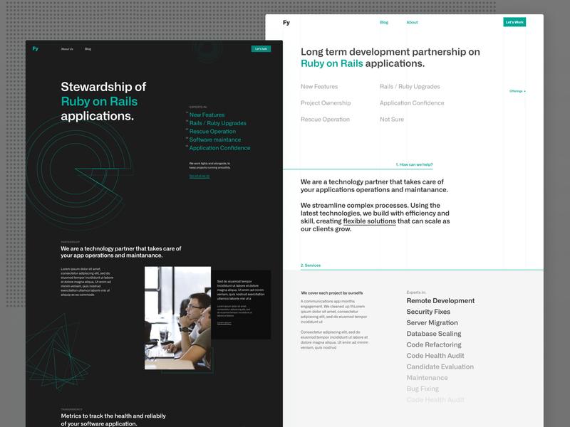 Neomind – Style Exploration flat design branding typography agency hero landing page brand web design web
