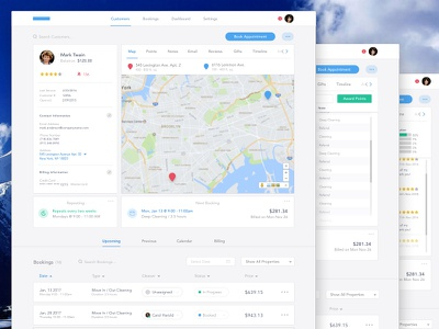 Cleaning Service CRM - Customer Profile Dashboard product design booking ux ui web design customer profile management dashboard crm