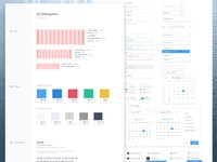 UI Style Guide - Cleaning CRM Dashboard
