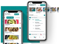 Recipe App – Shopping list and main calendar