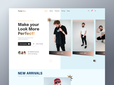 Clothing Store Website UI best shot 2021 minimal clean ux ui wear cloth homepage online shopping shopping clothings fashion ecommerce web landing page web design website
