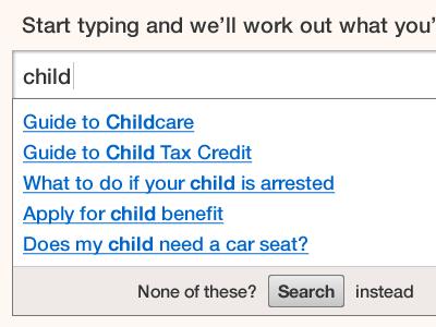 Autosuggest revised autocomplete search form alphagov autosuggest
