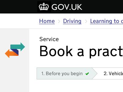 Service, heading, progress indicator