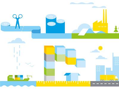 Storaenso illustrator paper infographic illustration icon vector