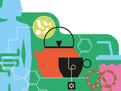 Blacktea minimal tea medicine infographics editorial vector