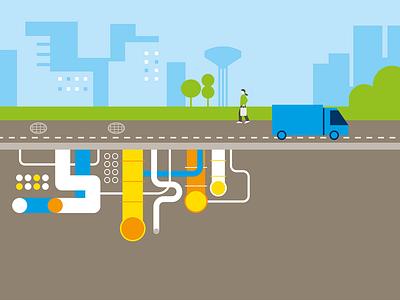 stockholm subway illustration infographics editorial vector