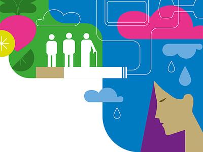 Behavioral Risks illustrator digital art colour simple vector depression medical health magazine illustration