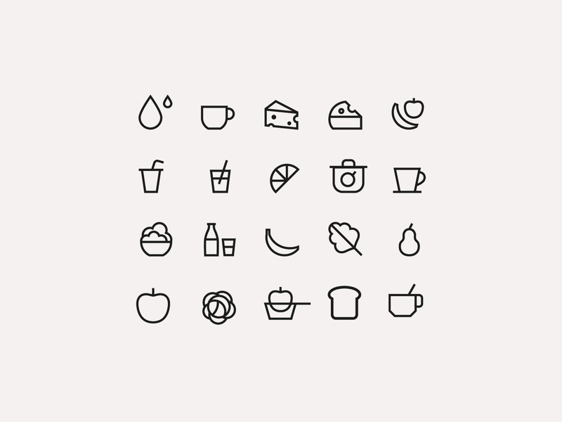 Tiny icons honey organic food logo icons illustration simple infographics design icon vector