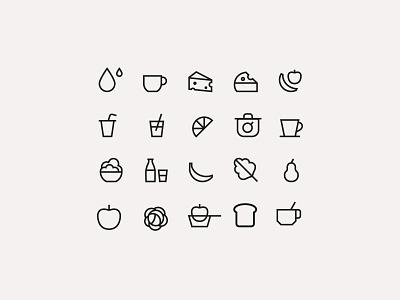 Tiny icons honey organic food logo icons illustration simple infographics design icon vector
