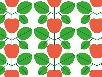 Apples apple pattern illustration nature editorial icon vector