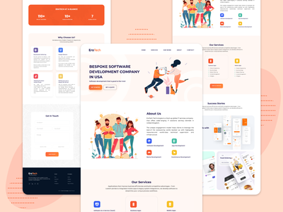 It Company design illustration appdesign figmadesign trendy popular design ux ui