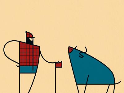 Lumberman illustration vector paul babe