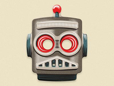 ROBOT MASK illustration vector halloween mask robot