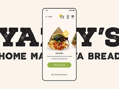 Pita Take-Away ordering app design branding principle for mac application interaction menu food ordering takeout takeaway principle animation ux ui app