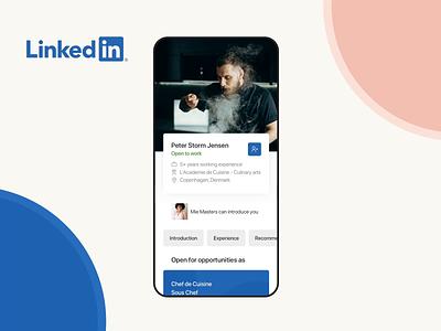 LinkedIn app redesign concept principle application social media cocept principle for mac animation ux ui app design app