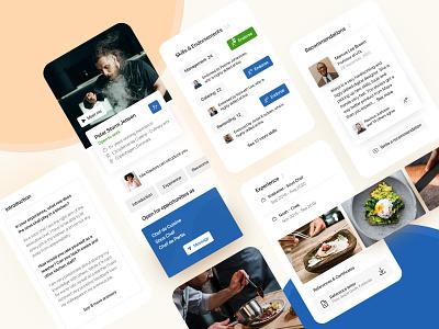 LinkedIn app redesign concept pt. 2 mobile app design mobile app mobile ui web design linked in linkedin career social media design application ux ui app