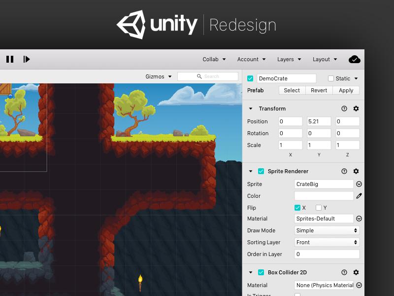 Unity Redesign by Chaitanya Alluru on Dribbble