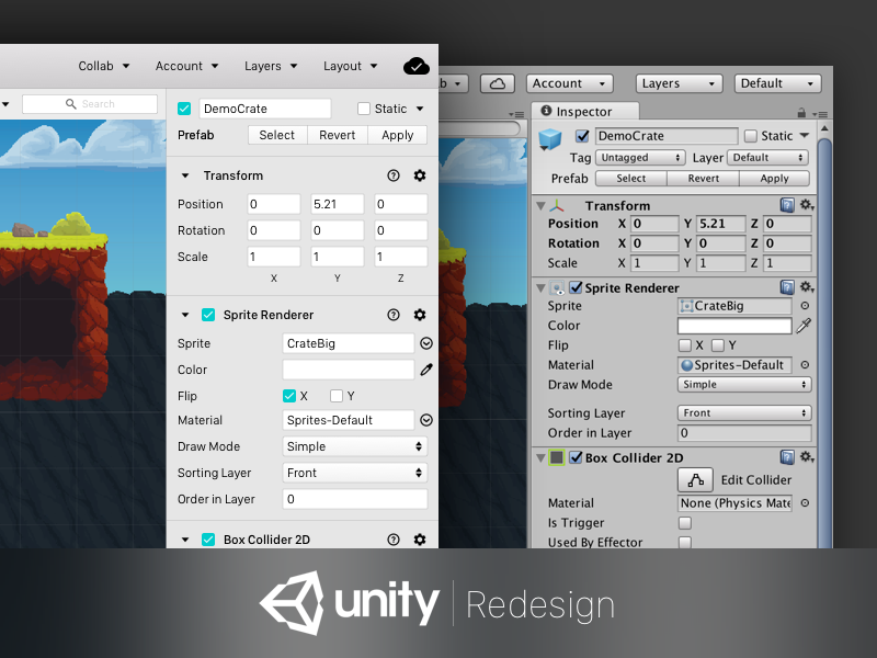Unity Redesign vs Current UI by Chaitanya Alluru on Dribbble