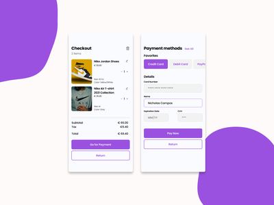 002 - Checkout checkout payment ui design uxdesign uidesign dailyuichallenge dailyui challenge 002