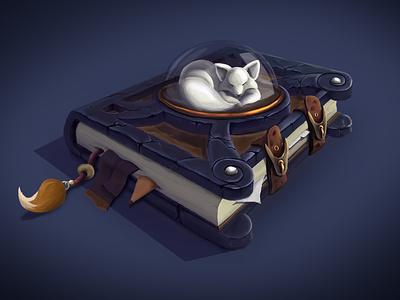 Fox book fox game art props illustration