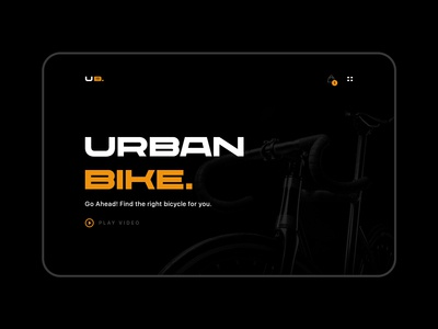 Urban Bike - Landing page design
