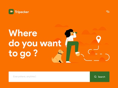 Tripecker - home page design