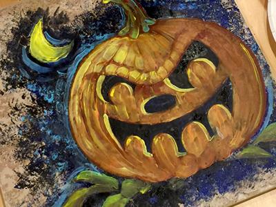 Art Class - One Hour Halloween Painting