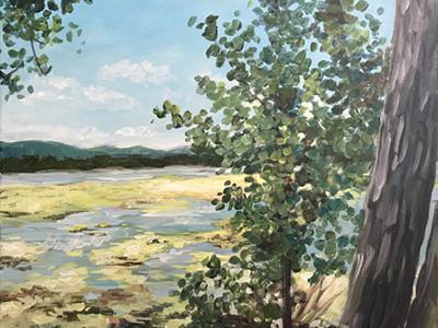 VT paint class impressionist vermont acryllic