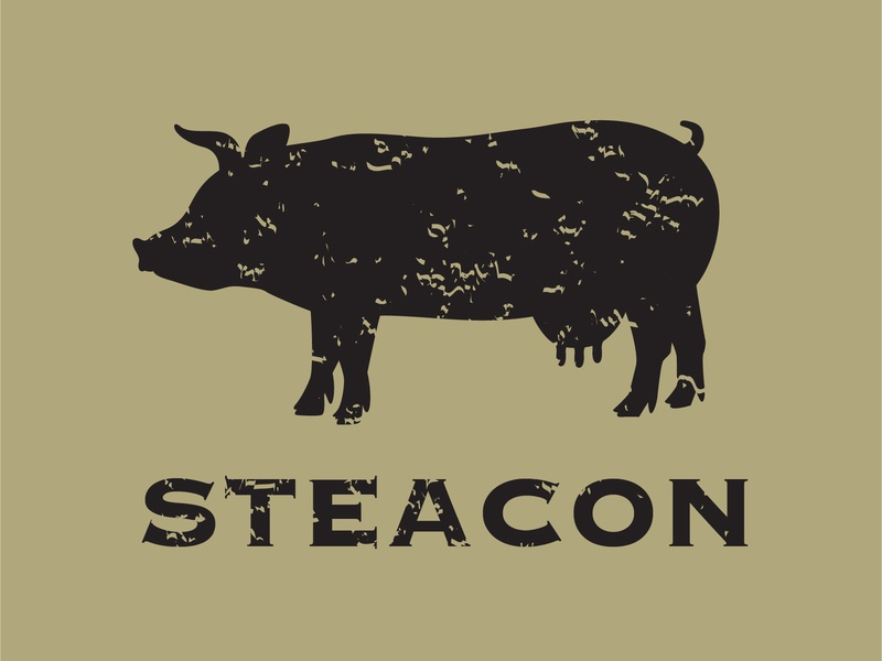 Steacon steak bacon adobe illustrator