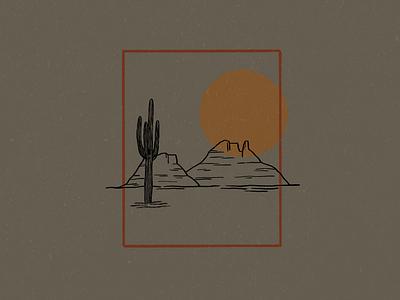 Desert Illustration cactus illustration cactuses cactus simple design simple logo logo design logo desert illustration desert view desert simple illustration minimalist illustrator hand drawn simple minimalism minimal minimalistic illustration art illustration
