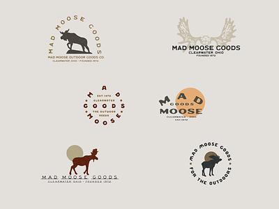 Mad Moose Goods - Logo Design badge branding typedesign typogaphy type logos logodesign logotype logo design logo simple illustration minimalist illustrator hand drawn simple minimalism minimal minimalistic illustration art illustration