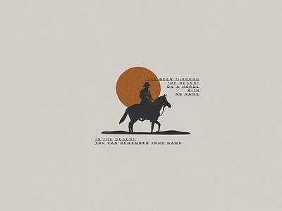 Desert Classic lyrics explore badge typedesign type horse logo desert illustration desert horse with no name horse simple illustration minimalist illustrator hand drawn simple minimalism minimal minimalistic illustration art illustration