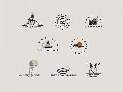 Just Row Studios Logo Design badgedesign badge logo badge branding design branding logodesign skeletons skeleton logotype logo design logo simple illustration minimalist illustrator simple minimalism minimal minimalistic illustration art illustration