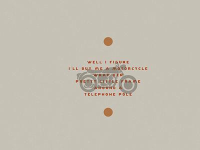 Motorcycle drive roadtrip travel explore adventure lyrics simple design simple logo motorcycles motorcycle simple illustration minimalist hand drawn illustrator simple minimalism minimal minimalistic illustration art illustration