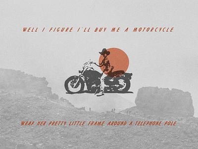 Motorcycle simple logo typogaphy type design type logo country music lyrics colter wall motorcycles motorcycle simple illustration minimalist hand drawn illustrator simple minimalism minimal minimalistic illustration art illustration