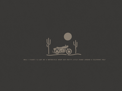 Motorcycle simple logo country music colter wall lyrics typography type design type art logo motorcycles motorcycle explore minimalist hand drawn illustrator simple minimalism minimal minimalistic illustration art illustration