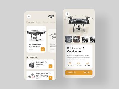 DJI - Drone Store shopping app shopping shop store dji application ui app ui application app design sketch app design ux ui drone