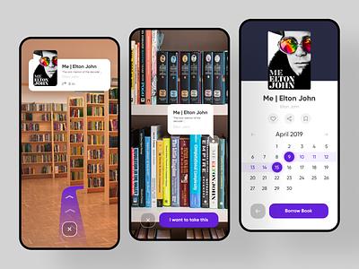 AR Book Reservation augmented reality resveration book ar app ui application ui application app design sketch app design ux ui