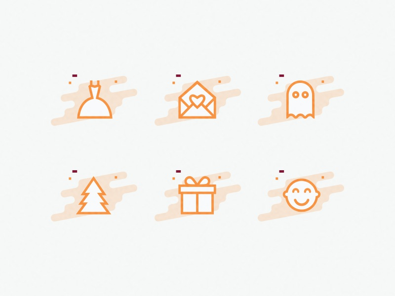 Celebration icons by vihra petrova dribbble small icon set for a greeting card company m4hsunfo