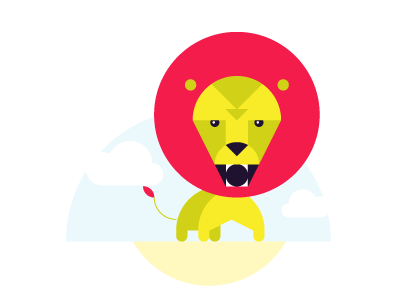 Lion geometric lion