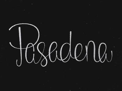 Pasadena mid-century script