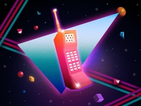 One Very Cool Cellular Device 80s phone retro