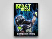 Marshawn Lynch Football Card