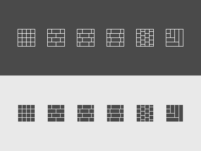 Floor Pattern Icons icon set web app pattern sketch icons