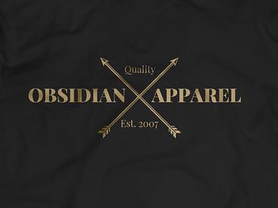 Obsidian Apparel concept branding vector logo