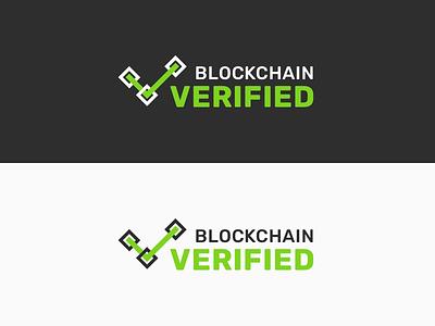 Blockchain Verified Logo blockchain concept branding vector logo