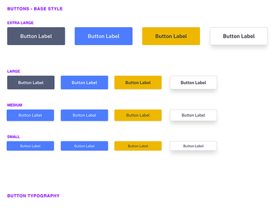 UI Kit - Buttons buttons ui kit ui design design sketch branding user interface ui
