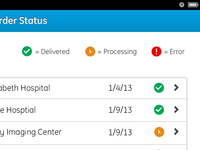 iPad App - Order Status